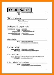 Free Download Resume Format In Ms Word Free Resume Template