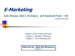 Ppt E Marketing Judy Strauss Adel I El Ansary And Raymond