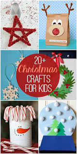 20+ Christmas Crafts for Kids - so many cute and fun craft ideas!