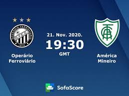 Operário Ferroviário América Mineiro live score, video stream and H2H  results - SofaScore