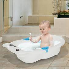 BABY BATH TUB White Infant Shower Seat Chair Water Barrier Wash ...