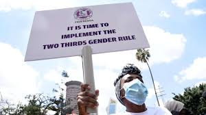 Two-thirds rule hurts rather than help cause of women's liberation   Nation