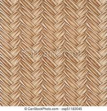 Woven Rattan Stock Illustration