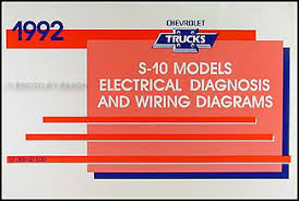 1992 chevy s 10 pickup blazer wiring diagram manual original
