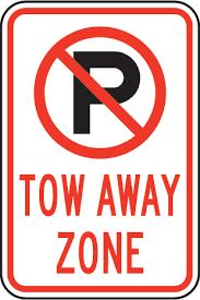 Resultado de imagem para no parking tow away zone