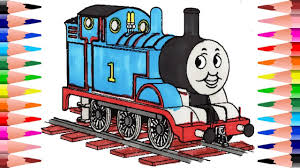 Awesome coloring book to draw and color your thomas and fri. Painting Thomas The Train Coloring Book For Kids Coloring Thomas The Train With Colored Markers Youtube