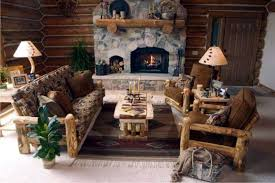 image of creative log cabin decor cabin furniture ideas