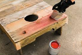 Wooden Corn Hole Game How to Upcycle an Old Pallet Into a Cornhole Game 100 Tips for 33