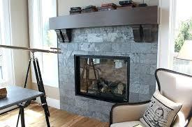 slate tile fireplace surround ideas home design gray