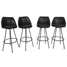 four midcentury modern bar stools by admiral chrome corporation
