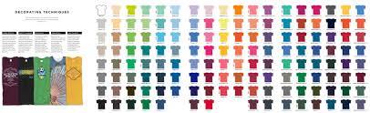 Gildan Tees Color Chart Rldm