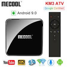 Tanie <b>MECOOL KM3 ATV</b> Androidtv 9.0 <b>Google</b> Certyfikat Android ...
