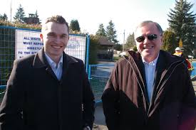 rick rake health i met dave lede and his son richard above at the canuck place campaign launch this morning at the west end of the campus of care site at the hole where