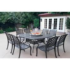 gracewood hollow chang cast aluminum 10 piece dining set
