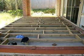 how to build a deck over concrete deck over concrete patio design building deck over concrete
