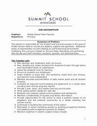 Middle School Teacher Resume Examples Sample Resumes Math Teacher