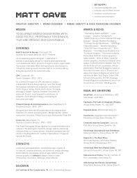 creative director resume resume templates