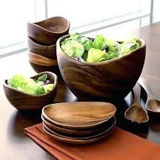 extra large wood salad bowl braid bowls set of 4 wooden
