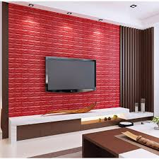 annt 3d foam wall panels red brick wallpaper self adhesive removable for tv walls background wall decor red 10pcs