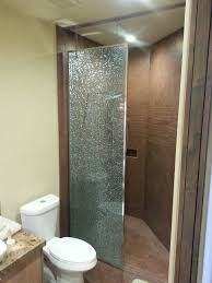 enclosure 90 shattered glass hanging shower panel