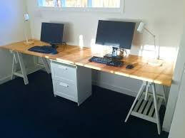 Office desk tops Drawer Astonishing Ikea Desk Top Surprising Long Home Office Desk Made From Two Beech Table Tops With Clinicaltrialbaseme Astonishing Ikea Desk Top Surprising Long Home Office Desk Made From