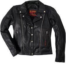 las studded leather jacket