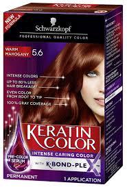 Schwarzkopf Keratin Color Permanent Hair Color Cream 5 6 Warm Mahogany Packaging May Vary