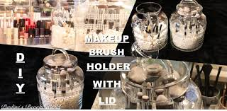 diy makeup brush holder with lid pauline walter