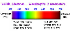 Visual Spectrum Chart Using Red In Restaurant Signage Channel Letters