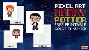 Free Harry Potter Pixel Art Coloring Pages Wholesale Halloween