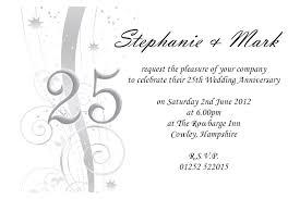 25th wedding anniversary invitation cards templates exle of 25th anniversary invitations templates new 12 best 50th wedding