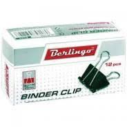 <b>Зажим</b> д/бумаг 25 мм Berlingo, черный (12 шт/упак) - <b>Канцелярия</b> ...
