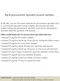 top8procurementspecialistresumesamples 150426010508 conversion gate01 thumbnail 4 jpg cb 1430010343