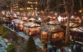 york christmas market 2017. winter village at bryant park, new york city christmas market 2017 a