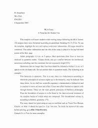 Mla Format Paper Template New Sample Mla Research Paper Simple
