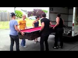 how to move a pool table you