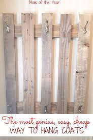 Room And Board Coat Rack DIY Pallet Board Coat Rack in 100 Easy Steps The Mom of the Year 81