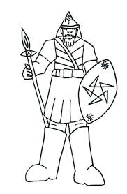 David And Goliath Coloring Page Sheet For Preschoolers Pages