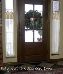 front doors with side windowsFront Doors  Door Ideas Curtains For Front Door Windows On The