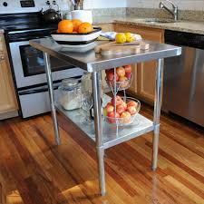 sportsman stainless steel kitchen utility table