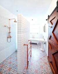 Copper shower fixtures Exposed Copper Copper Shower Fixtures Polished Brass Shower Fixtures With Contemporary Bathroom Also Bathroom Floor Tile Bathroom Tile Copper Shower Fixtures Recyclenation Copper Shower Fixtures Stunning Copper Pipes Shower Installation By