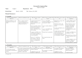 Personal Development Plan Template Word Personal Development Plan