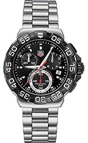 tag heuer formula one men s quartz watch black dial tag heuer formula one men s quartz watch black dial chronograph display and silver stainless steel
