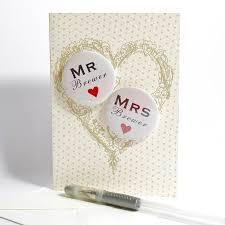 Personalised Mini Magnets Wedding Card
