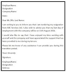good letter of resignation an ideal sample of a good resignation letter consists of all the