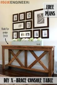 how to build a sofa table x brace console table free plans rogue engineer plans furniture how to build a sofa table free plans