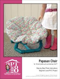 papasan chair pvc project pattern for 18 inch dolls such as american girl