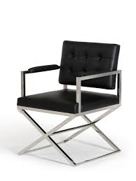 glam leather chair  modern furniture • brickell collection