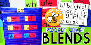 Consonant Blend Chart Printable Free Pocket Chart Blends Digraph Cards