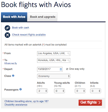 British Airways Miles Chart How To Search For Book British Airways Avios Flights
